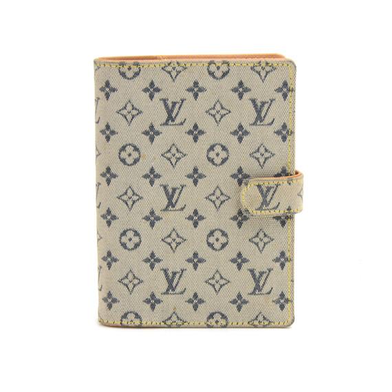Louis Vuitton Agenda PM Mini Line Blue Monogram Canvas Agenda Cover LP319