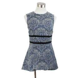 Erdem Blue Floral Print Blouse Size 4