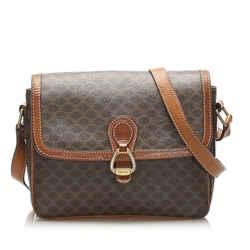 Brown Celine Macadam Crossbody Bag