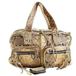 Rdc9061 Authentic Chloe Beige Python Leather Betty Bag
