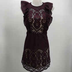 Parker Purple Lace Dress Size Small