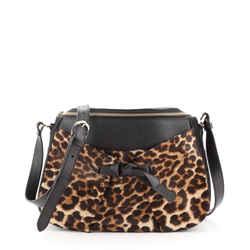 Salina Messenger Bag Pony Hair and Leather