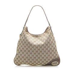 Brown Gucci Interlocking G Hobo Bag