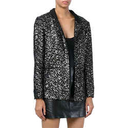 Zadig & Voltaire Black and Silver Blazer Size: 8 (M) Length: Short