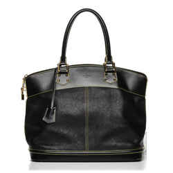 Louis Vuitton Black Suhali Leather Lockit GM Bag 862525