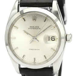Vintage ROLEX Oyster Date Precision 6694 Steel Hand-winding Mens Watch BF525110