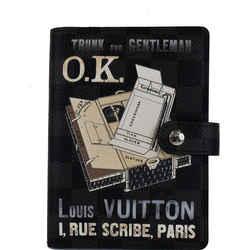LOUIS VUITTON Damier Graphite I Rue Scribe Small Ring Agenda Cover Black