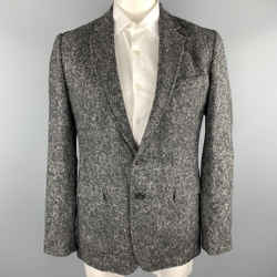 Dolce & Gabbana Size 40 Grey Heather Alpaca / Nylon Sport Coat