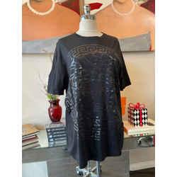 Versace Sz 2XL Black Cotton Medusa Tonal T-shirt 2676-57-2621
