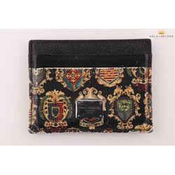 Dolce and Gabbana Sicilian Crest Card Holder