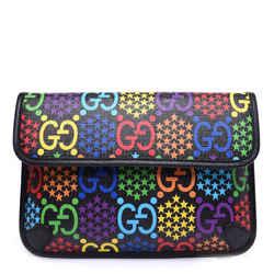Gucci GG Supreme Monogram Psychedelic Slim Belt Bag Black 598113