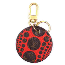 Louis Vuitton Monogram And Red Leather Key Chain Charm