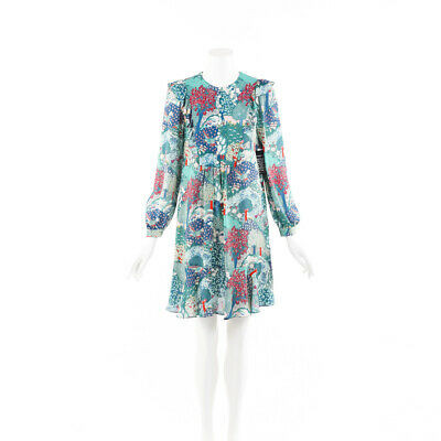 Vilshenko Dress Floral Print Silk SZ 10 UK