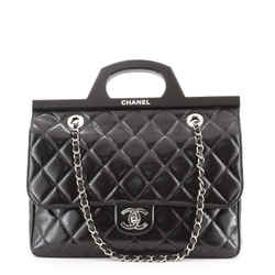 CC Delivery Tote Quilted Glazed Calfskin Small