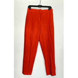 Proenza Schouler Orange Wool-blend Straight Leg Pants Sz 4