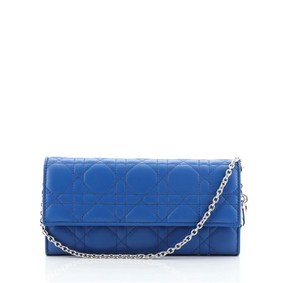 Lady Dior Rendez Vous Short Chain Wallet Cannage Quilt Lambskin