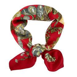 """Hermes Silk Scarf """"jardin secret"""" by Valerie Dawlat 90 cm"""