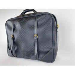 Gucci Carryon Black Monogram Luggage Suitcase With Strap 28ga530