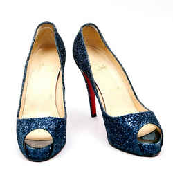 Christian Louboutin Pumps Marine Platforms Navy One Size Authenticity Guaranteed