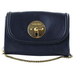 See by Chloe Black Leather Turnlock Gold Chain Crossbody Bag 244ch56