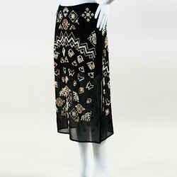 Altuzarra Zeramika Beaded Embroidered Midi Skirt SZ 38