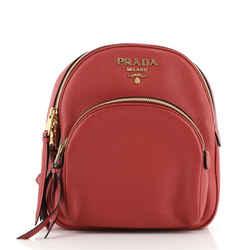 Convertible Front Pocket Backpack Vitello Daino Small