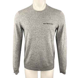 Theory Size M Grey Heather Cashmere Crew-neck Pullover Sweater