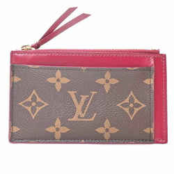 Auth Louis Vuitton Louis Vuitton Monogram Porto Cult Zip Fuchsia Wallet Brown Re