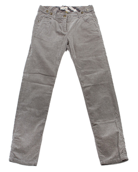 Grey Velvet Burberry Pants - New With Tags