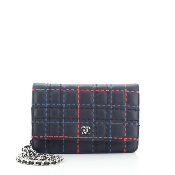 Wallet on Chain Stitched Lambskin