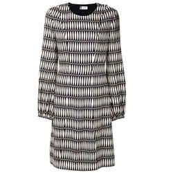 Lanvin Black / Ivory Tie Print Casual Maxi Dress