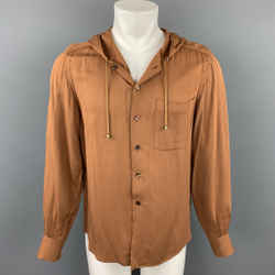 Vintage JEAN PAUL GAULTIER Size 40 Tan Cotton Hooded Shirt Jacket