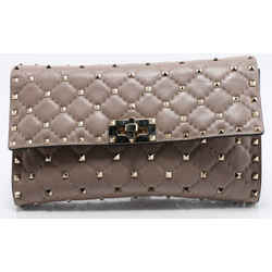 Valentino Garavani Studded Shoulder Bag - Nude