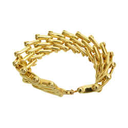 Authentic Christian Dior Vintage Bracelet GP Link Jewelry Accessory 2