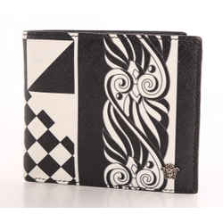 Versace Optillusion Leather Bifold Wallet