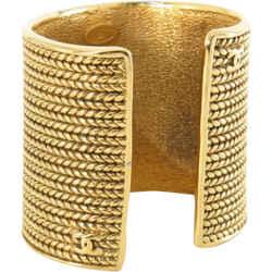 Chanel Extra Wide CC Logo Chain Cuff Bangle Bracelet c860873c