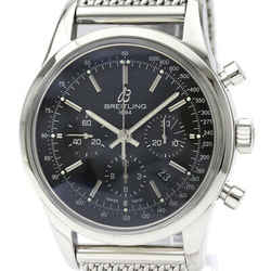 Polished BREITLING Transocean Chronograph Steel Automatic Watch AB0152 BF533604