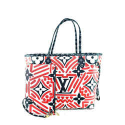 Louis Vuitton Red Crafty Neverfull MM with Pouch Limited Tribal African 2LV729