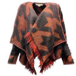 Stella McCartney Red and Black Tweed Alpaca Jacket