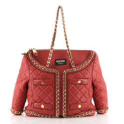 Jacket Shoulder Bag Quilted Leather