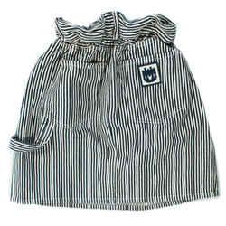 Miu Miu - Striped Denim Skirt - Flare Cinched Waist Pocket Blue White  Us 2 - 40
