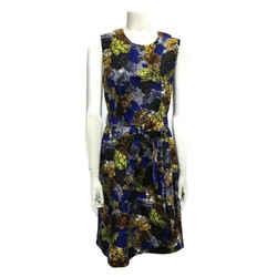 Prada Blue/Yellow Multi Flower Short Casual Dress