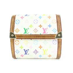 Louis Vuitton White Monogram Multicolor Blanc Elise Snap Compact Wallet 5lvs113