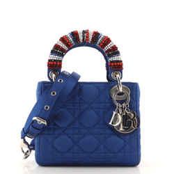 Lady Dior Bag Beaded Cannage Quilt Satin Mini