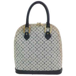 Louis Vuitton  Blue Grey Monogram Mini Lin Alma Haut Tall 8701664