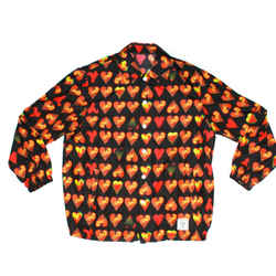 Versace - New - Mens Windbreaker Jacket - Black Orange Hearts - US Small - 46