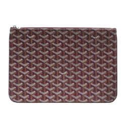 Red Goyard Goyardine Senat MM Bag