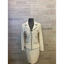 St. John Ivory Two Piece Skirt Suit