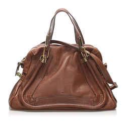 Vintage Authentic Chloe Brown Calf Leather Paraty Satchel France