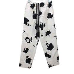 Marni Cream Print Cotton Pants Sz 38